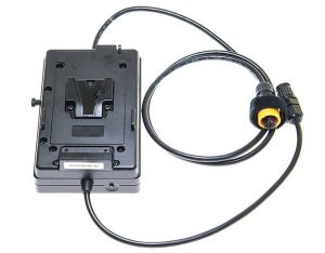 Bi Colour V lock Battery Plate attached to dimmer unit low res